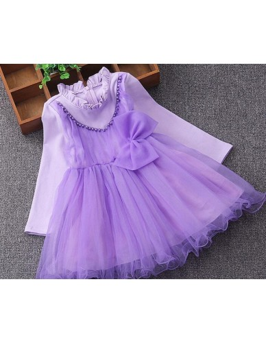 Summer Tulle Girls Dress With Vintage Floral Top fashion Party and Wedding Princess Kids Toddler Dresses Children Clothing