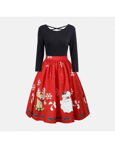 Winter Christmas New Year Festive Vintage Party Dress Ladies Hollow Out Long Sleeve Sexy Dress Women Elegant A Line Red Dress
