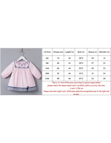 baby girls clothes Newborn Toddler Baby Girls Floral Embroidery A-line Vintage Dress Princess baby Party Dresses 0-2Y
