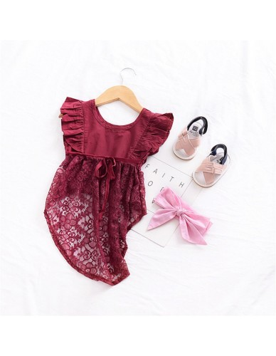 2018 Hot Sale Real Moana Baby Vintage Toddler Kid Girls Lace Flower Party Short Front Back Long Dresses Tutu Dress Tops Clothes