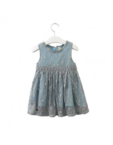 Summer Girls Vintage Embroidery A-line Dress Toddler Lace Patch Waistline Sleeveless Lolita Sundress for Kids 2-6 Clothing
