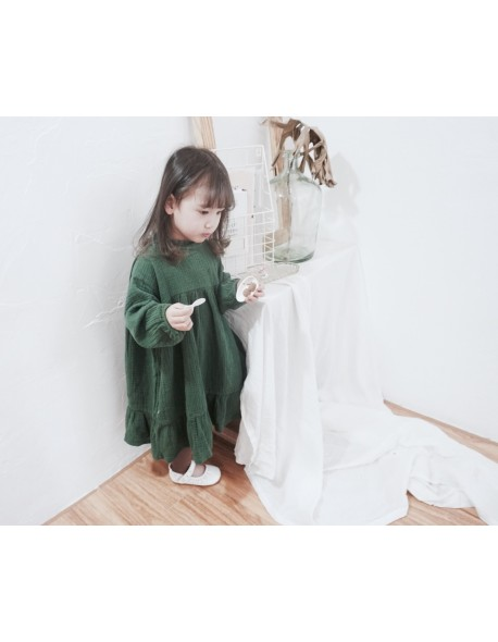 693bc210937 2018 Fall Long Toddler Girl Dress Korean Cotton Linen Baby Girl Princess  Dresses Vintage Loose Maxi
