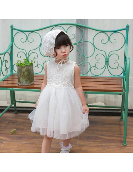 3bf950f2f Vintage White Baby Wedding Dress Summer Newborn Baby Girl Birthday Dress  Lace Toddler Girl Party Baptism