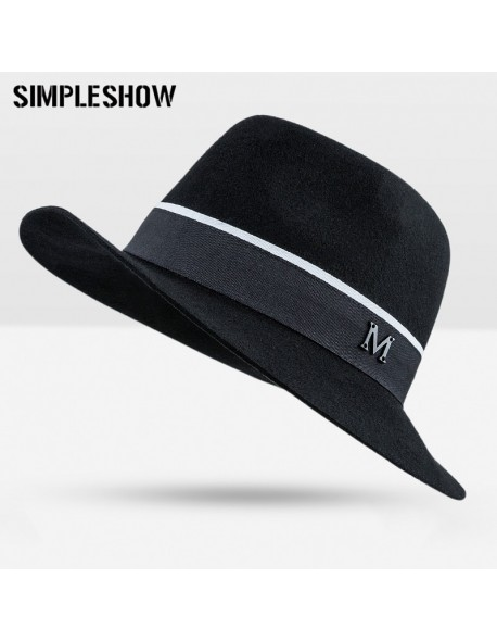 77d52903ecc87 2018 New Style Soft Women Vintage Wide Brim Wool Felt Bowler Trilby Fedora  Hat Floppy Cloche