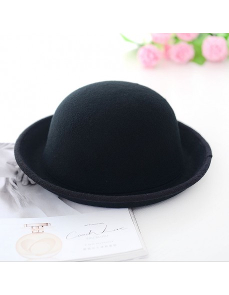 bc4b193d39f Fashion Vogue Ladies Women Girl Vintage Wool Black Bowler Derby Trilby Hat  Cap Hot Sale Hottest