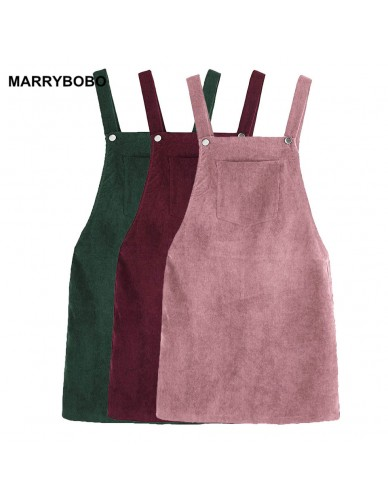 2018 Autumn Winter Women Casual Sleeveless Pocket Retro Corduroy Dress Female Vintage Party Dress Loose Suspender Sundress