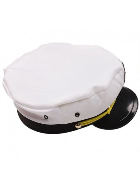 5b3a4a42116d9 2018 New Unisex White Vintage Skipper Sailors Navy Captain Boating Military  Hat Cap Adult Party Fancy