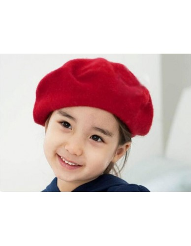 5d9ce4c46e1 High Recommend Fashion Kids Girls Bailey Hat Dome Beret wool vintage winter  hats for kids gorros