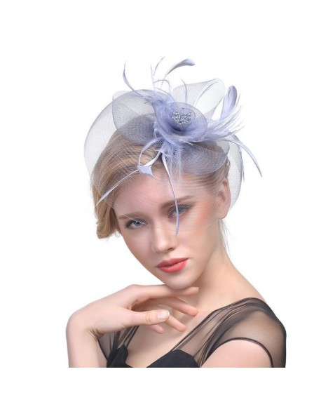 321791321e666 Feitong Europe Style Womens Fascinator Vintage Flower Mesh Ribbons Feathers  Headband Cocktail Tea Party Hat Headwear