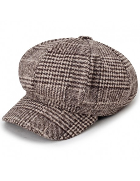 03f8dc4fc COKK Newsboy Cap Plaid Octagonal Hats For Women Men Classic Vintage Beret  Autumn Winter Hats For Ladies Girl Beret Hat Female