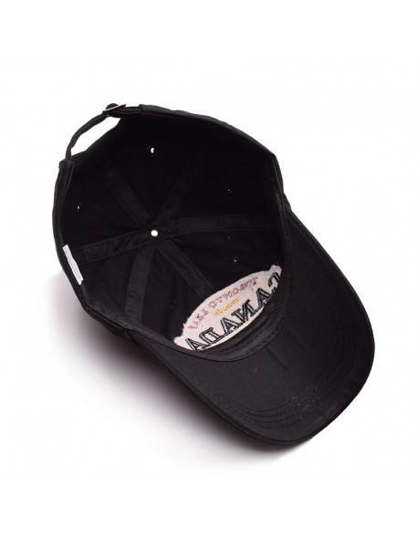 8694a7412ad MNKNCL High Quality Unisex 100% Cotton Vintage Baseball Cap CANADA  Embroidery Snapback Fashion Sports Hats