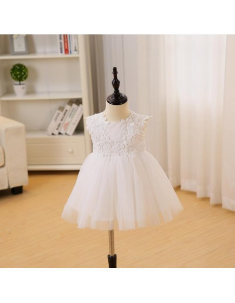 Baby Girl 1 Year Birthday Dresses Girls Christening Gowns Wedding Party Lace Dress Toddler Bebes Baptism Dress Real Picture