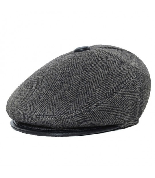 91f7211d20e76 ... Father s Day Gift Vintage Catsby Newsboy Caps Winter Golf Driving Hats  Woolen Stripes Earflaps Ivy Caps