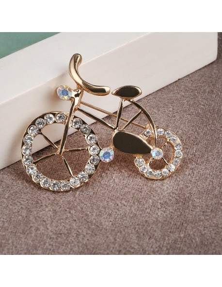 1350495a239 Women Vintage Brooches accessories Bike Style Brooch Pin Crystal Rhinestone  Jewelry Garment Accessory Nicely Hats Bijoux