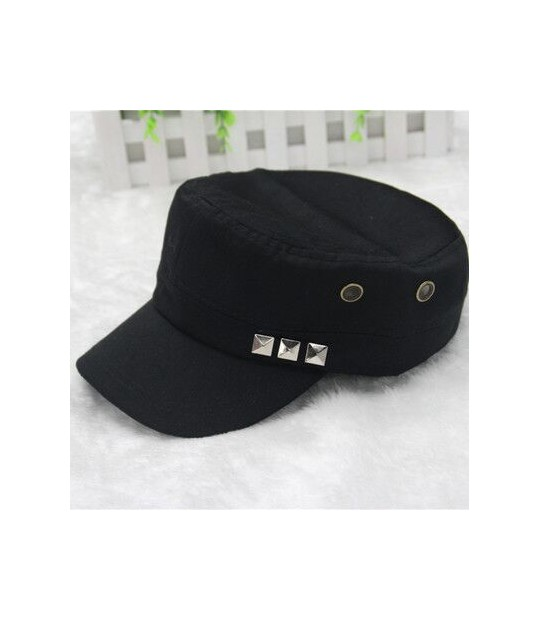 7bdf9034524 ... 2017 new 1PC Classic Women Men Snapback Rivets Caps Vintage Army Hat  Cadet Military Patrol Cap ...