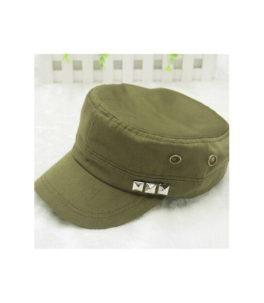 dac3f8dc55c ... 2017 new 1PC Classic Women Men Snapback Rivets Caps Vintage Army Hat  Cadet Military Patrol Cap