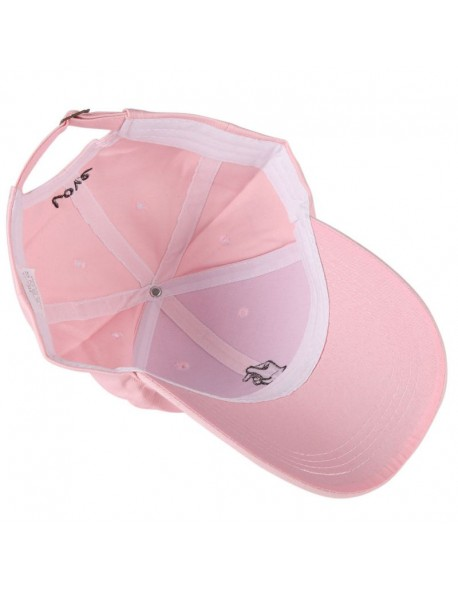 40a361c5b13 2018 Summer Cap Embroidered Hat Curved Casual Baseball Caps Women Men Hip  Hop Pink Hat Vintage