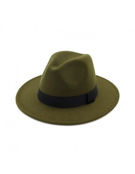 3e32c92f9b6 Zgllywr Fedora Hat for Gentleman Women Wool Men Black Dad Woolen Wide Brim  Jazz Church Cap