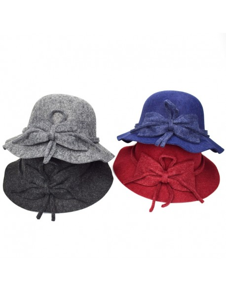 New Stly Autumn Winter Womens Felt Hat Fedoras Big Brim Hats For Women  British Style Vintage 111babd25e1d