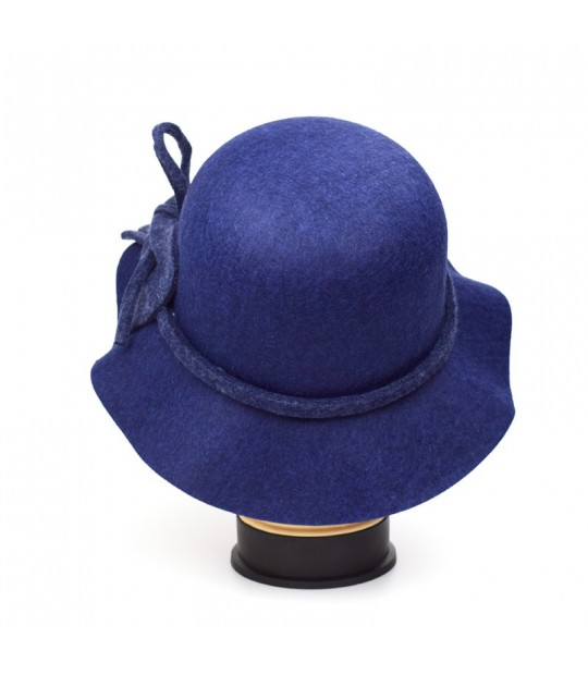 ... New Stly Autumn Winter Womens Felt Hat Fedoras Big Brim Hats For Women  British Style Vintage ... 054044684b75