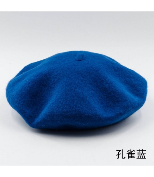... New Winter women hat Vintage Berets wool 32colors Caps pillbox hat  gorras planas hombre Hats Beret ... 13809a24992