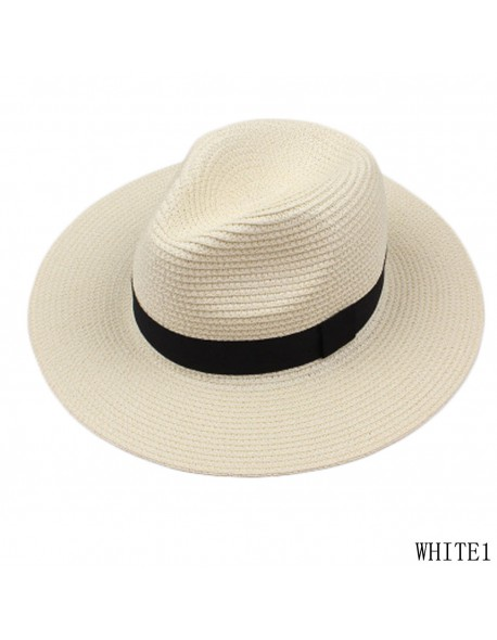 56cd7d8d4009e Vintage Panama Hat Men Straw Fedora Male Sunhat Women Summer Beach Sun  Visor Cap Chapeau Cool