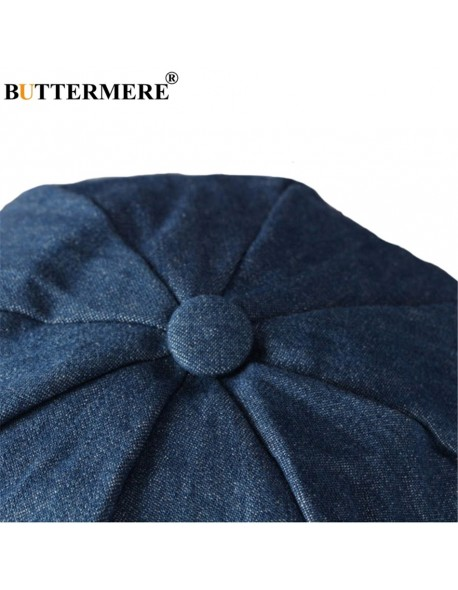 356051541bd BUTTERMERE Men Denim Newsboy Caps Female Spring Vintage Painters Hat  Octagonal Driving Casual Gatsby Cotton Ivy