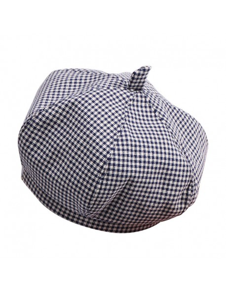 40b409ed3 New Fashion Baby Hat for Girls Cotton Plaid Baby Girl Hat England Vintage  Kids Beret Cap Infant Baby Accessories 1 PC