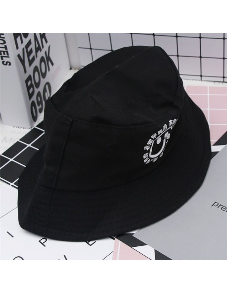 Boonie Flat Fishman Hat Summer KYC Vintage Black Bucket Hat Sad Boys Men  Women Hip Hop bbb1e8fa1a4