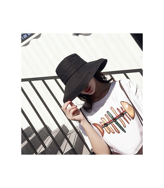 bfe253c34 ZJBECHAHMU Hats Casual Vintage Solid Polyester Sun Hat For Women G...