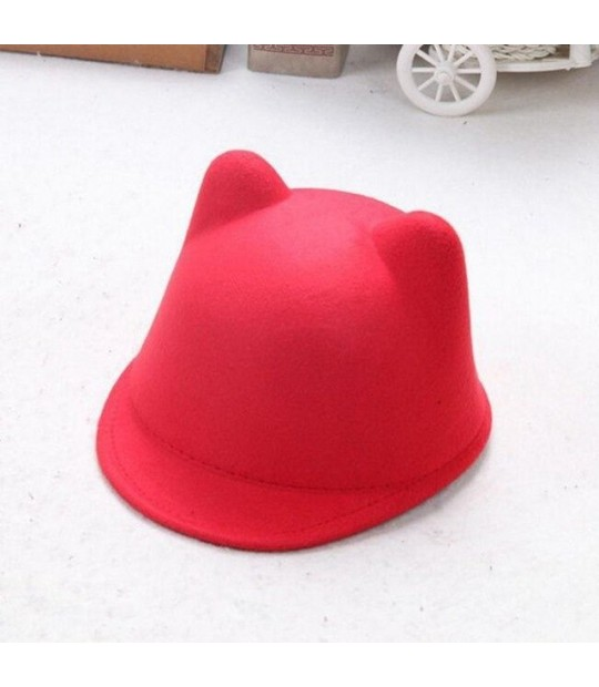 ef48aeab ... LASPERAL Women Causal Solid Colour 2018 New Brand Winter Warm Round  Bowler Cap With Cat Ears ...