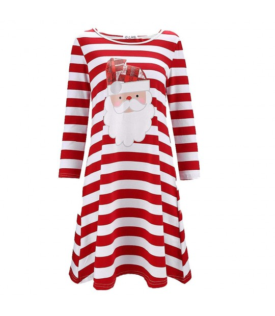 1b00aabc15 Sexy Dresses Woman Winter Casual Long Sleeve Mini Christmas stripe...