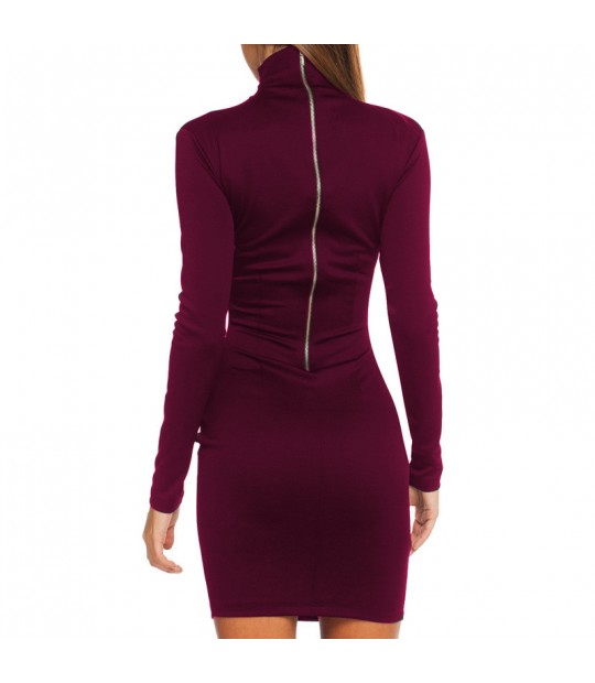 20012cdf41 ... Casual Fall 2018 Women Long Sleeve Bodycon Party Dresses Autumn Winter  Slimming Elegant Temperament Quality Mini ...