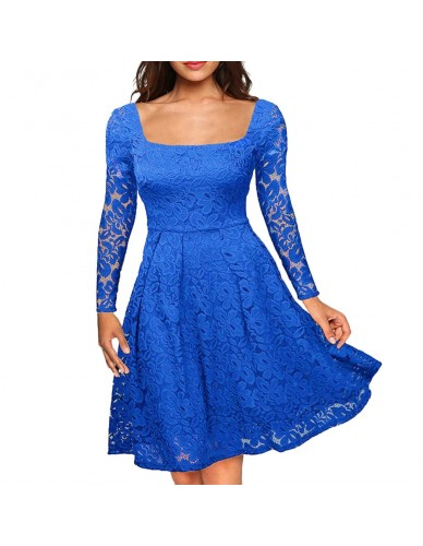 Women Floral Lace Dress 1950s Vintage Dress Plus Size 3XL 4XL 5XL Long Sleeves A-Line Evening Wedding Retro Party Dresses female