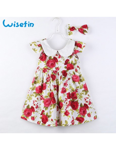 e57f3b1a10ee Wisefin New Born Baby Clothes For Summer Toddler Girl Dresses Vint...