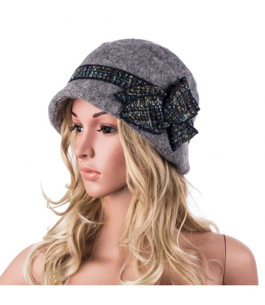 7df66f21624a0 Beret Hats Women Thick Warm Wool Winter Hat 1920s Vintage Flapper Cloche  Hats for Women Two ...