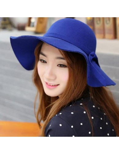 BTLIGE Women Vintage Felt Bowler Fedora Hat Winter Wide Brim Floppy Cloche Clothing Accessories Dropship