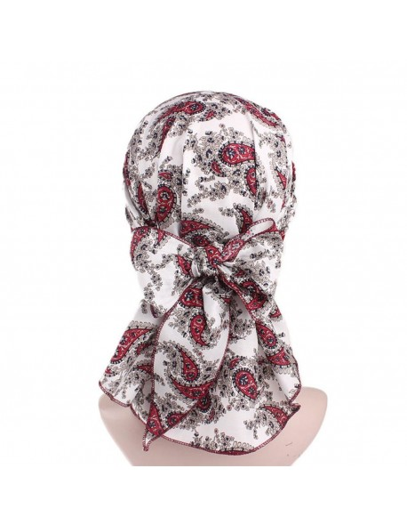Women's Vintage Floral Print Turban Hat Cotton Stretch Hair Band Hat Pirate Style Hat Patient Chemo Cap
