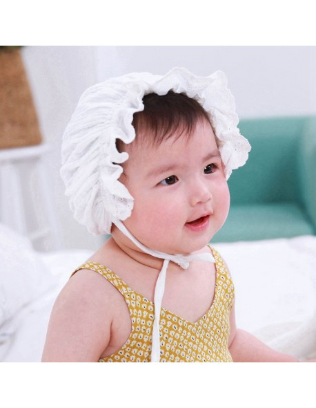 Bnaturalwell Baby Girls Vintage Style Hat Cotton Bonnet Toddler lovely Beanie Caps Newborn granny hat milk maid cap 1pc H836