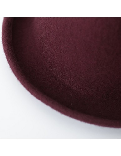 New Winter Autumn Cap Vintage Simple Solid color Lady Fedoras Wool Felt oval Fedora Hats