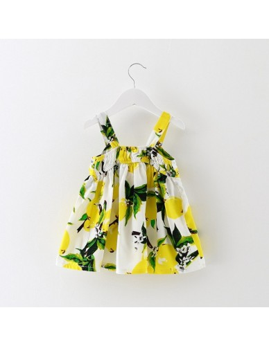 2018 Newborn Baby Girl Toddler Year Birthday Dress Lemon Print Christening Gowns Baptism Vintage Clothes Child Outfit 0-2 Years
